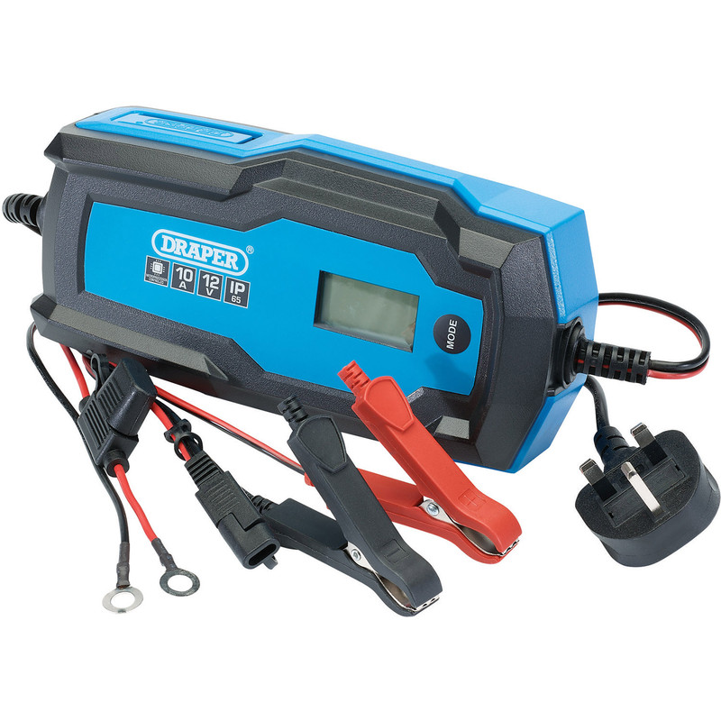 Draper 6/12V Smart Charger and Battery Maintainer