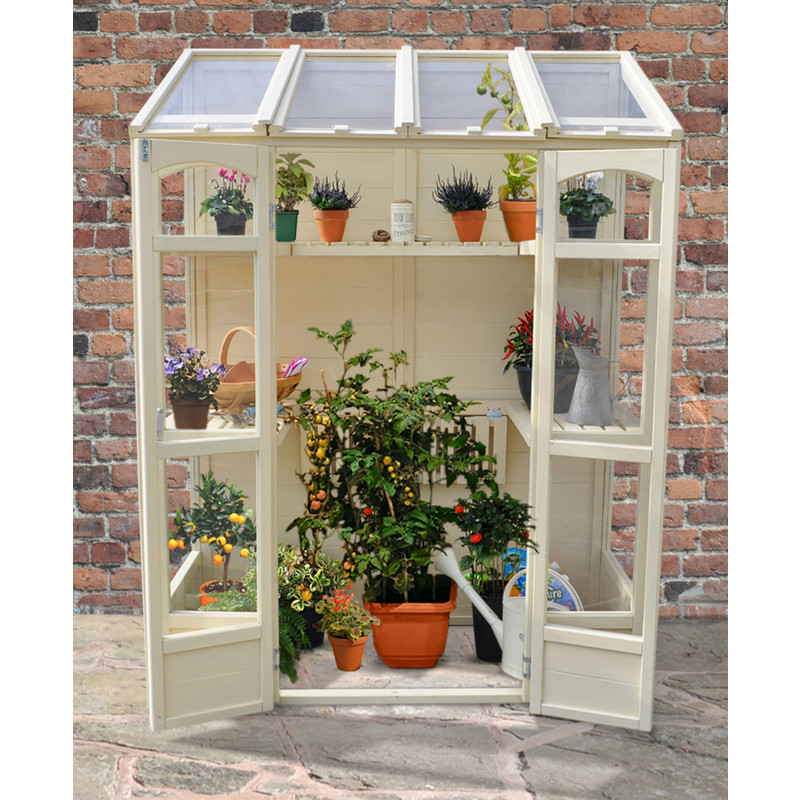 Forest Garden Victorian Tall Wall Greenhouse