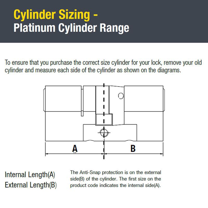 Yale Platinum 3 Star Euro Double Cylinder