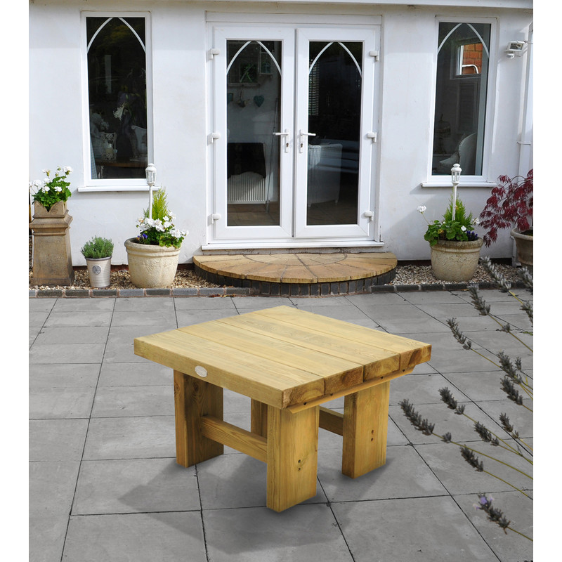Forest Garden Low Level Sleeper Table
