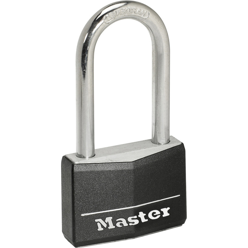 Master Lock Black Covered Aluminium Padlock