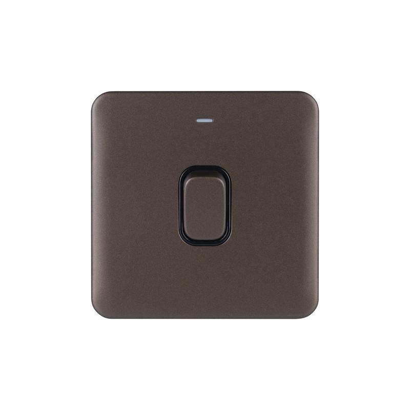 Schneider Electric Lisse Mocha Bronze Screwless 20AX DP Switch