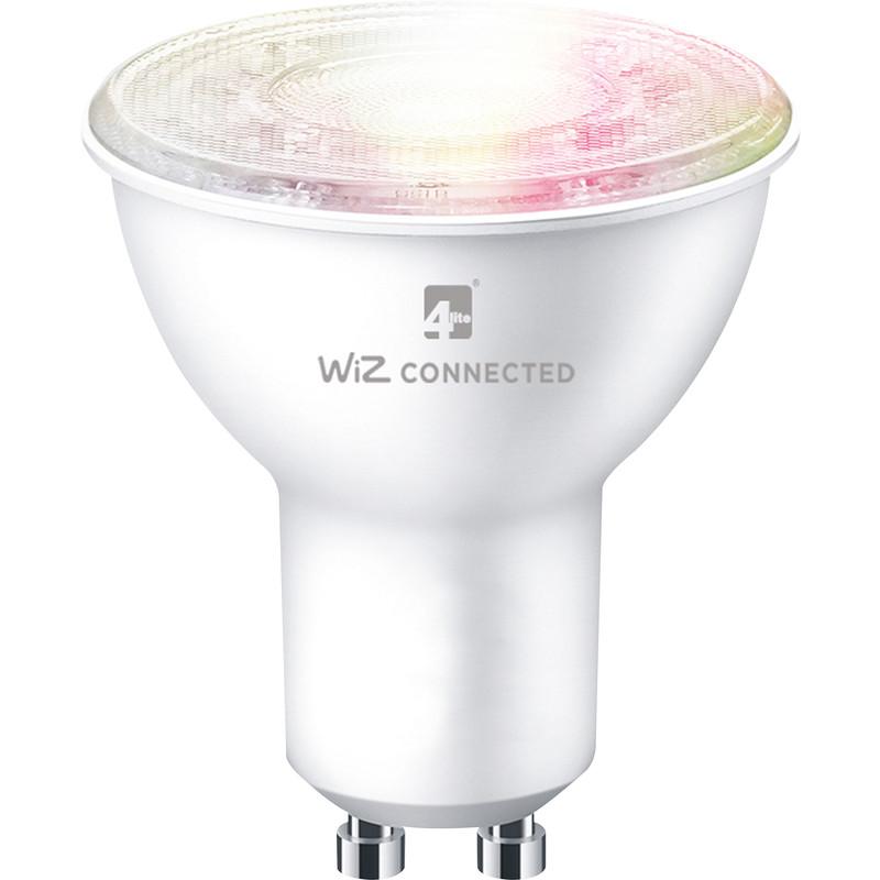 4lite WiZ LED Smart WiFi Bluetooth GU10 5W RGB + White Bulb