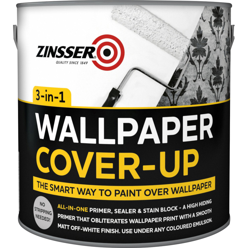 Zinsser 3 in 1 Wallpaper Cover Up Paint