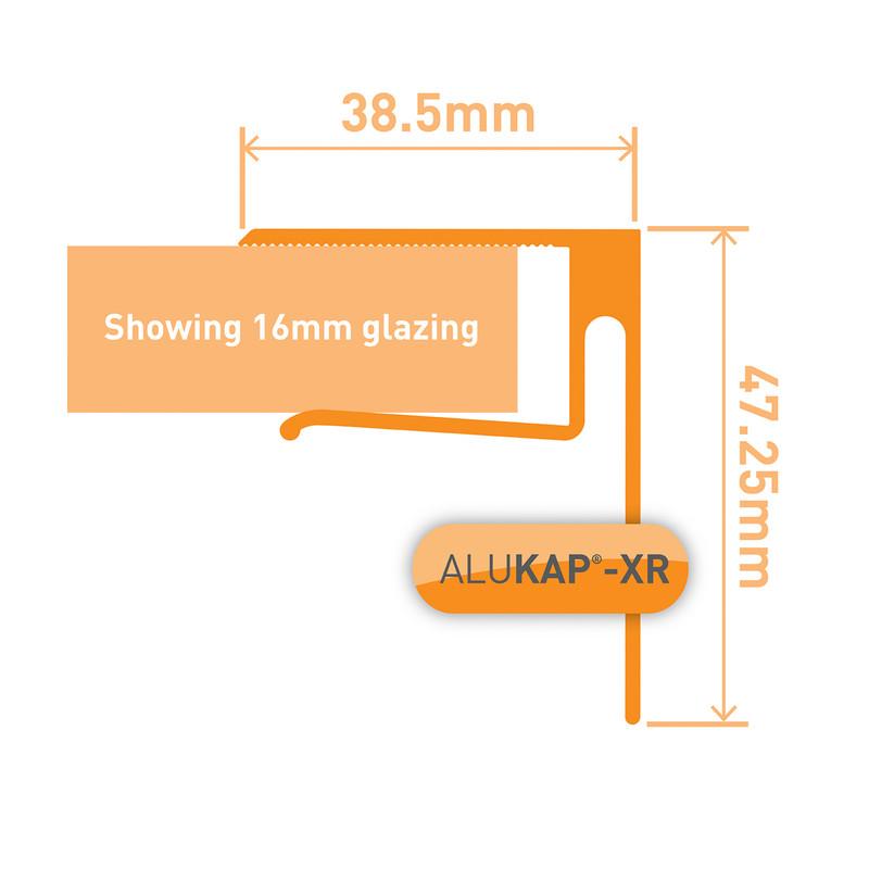 Alukap-XR Sheet End Stop Bar for Axiome Sheets