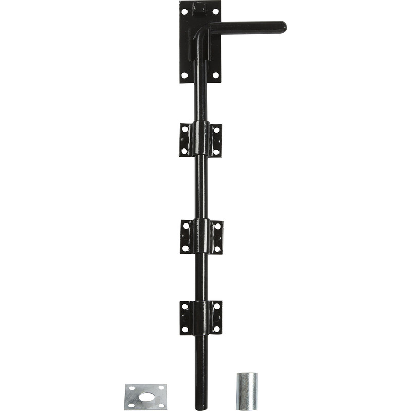 GATEMATE Premium Black Garage Door Bolt