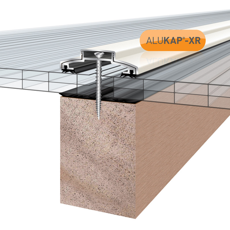 Alukap-XR 60mm Concealed Fix Glazing Bar with Gasket