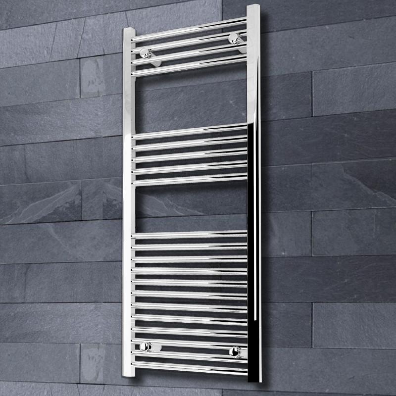Kudox Flat Electric Towel Radiator: Kudox Chrome Flat Ladder Towel Radiator 500 X 1200mm 1160Btu