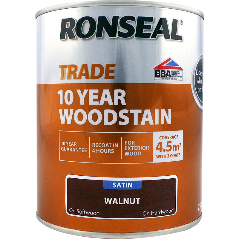 Ronseal 10 Year Exterior Satin Woodstain 750ml