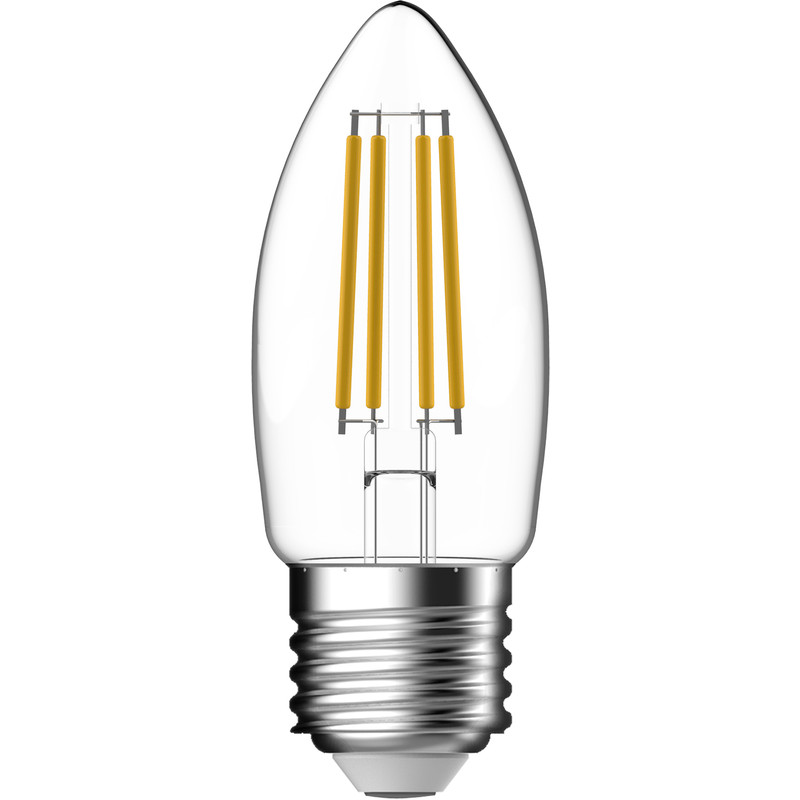 Energetic LED Filament Clear Candle Lamp