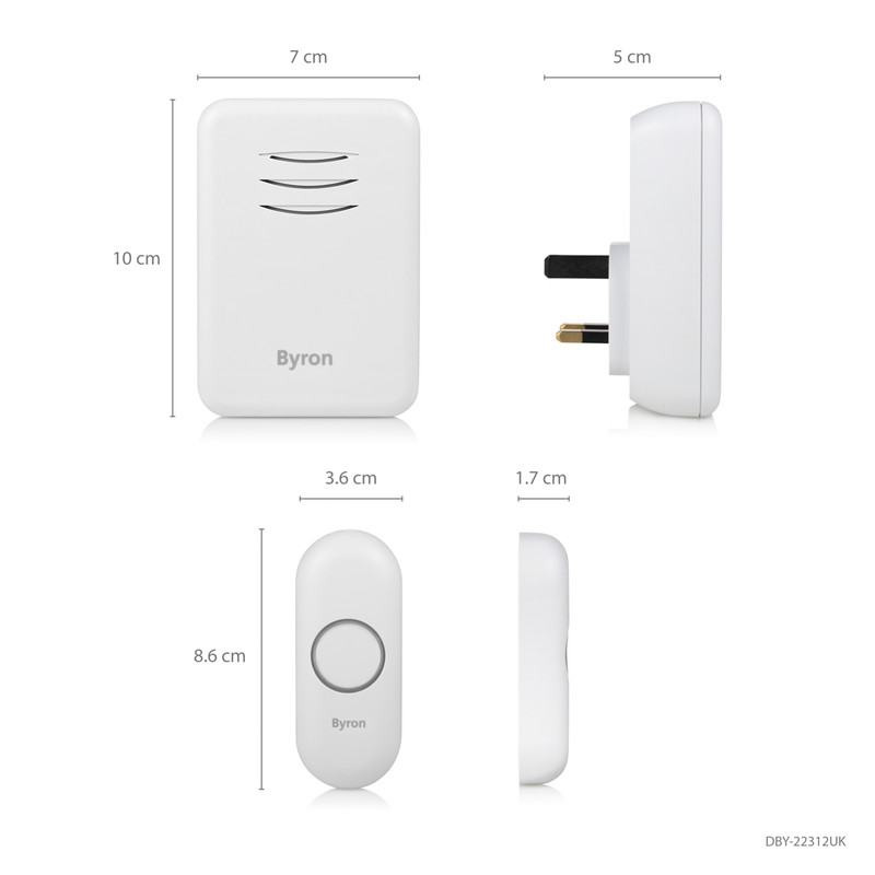 Byron Wireless Plug In Doorbell Set