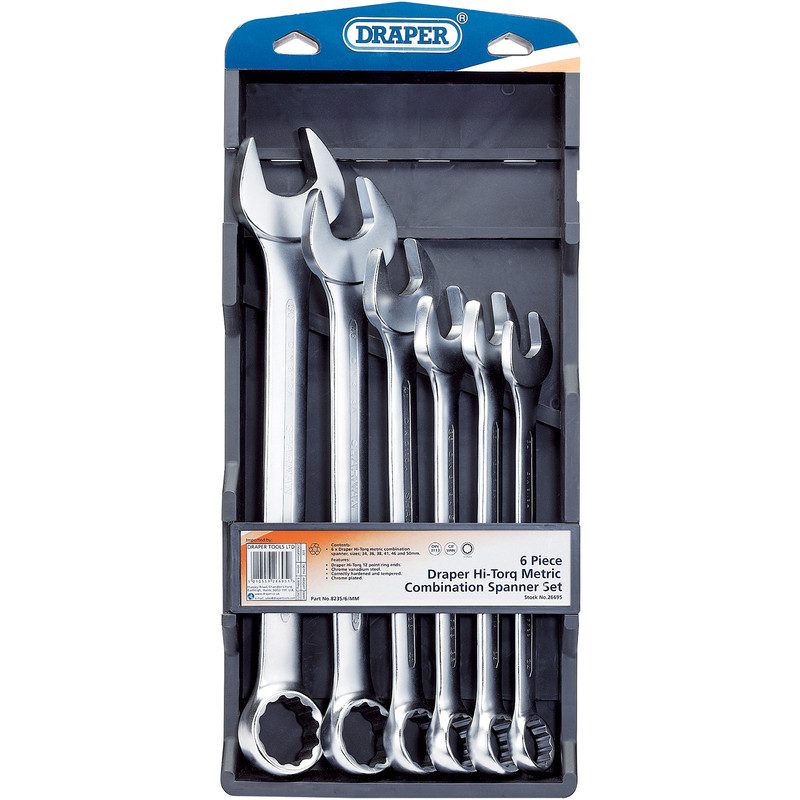 Draper HI-TORQ Metric Combination Spanner Set
