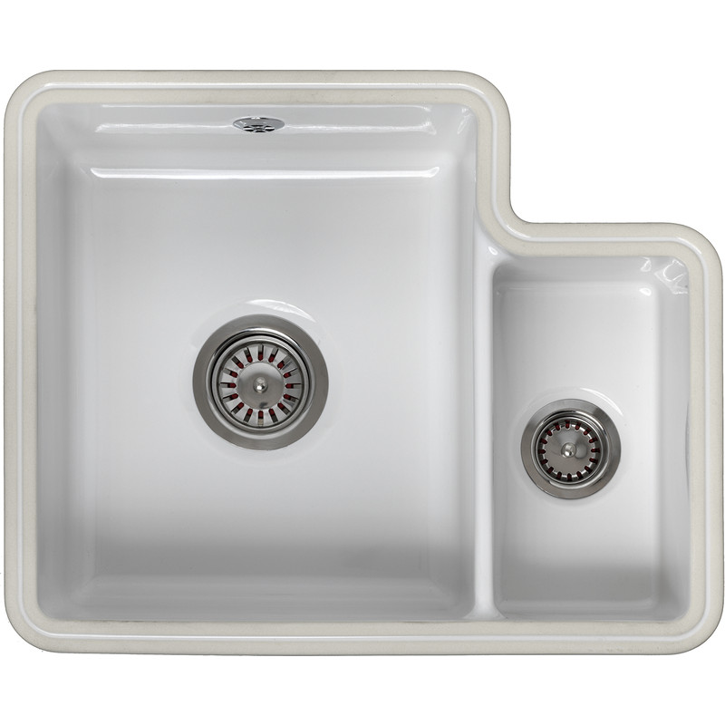 Reginox Undermount 1.5 Bowl Ceramic Kitchen Sink & Drainer