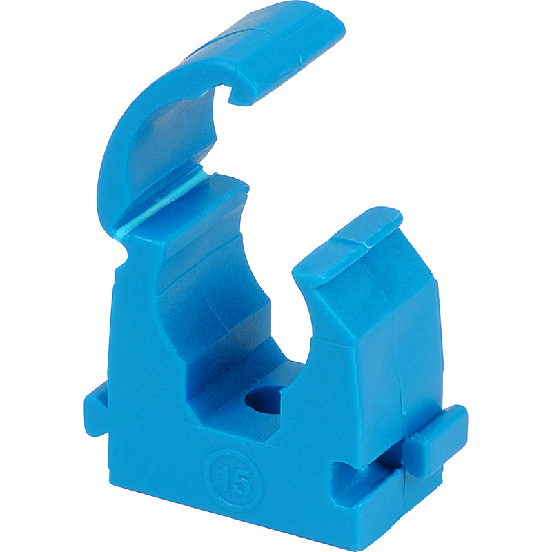 15mm Open Plumbing Pipe Clip PACK 18 CLIPS