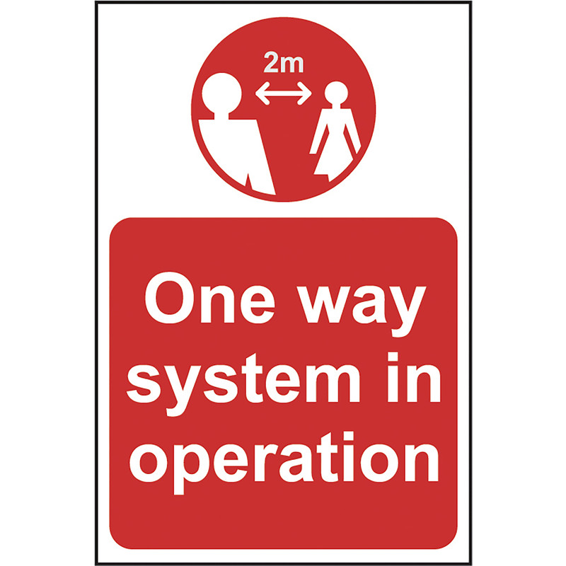 'One Way System In Operation' Correx A-Board