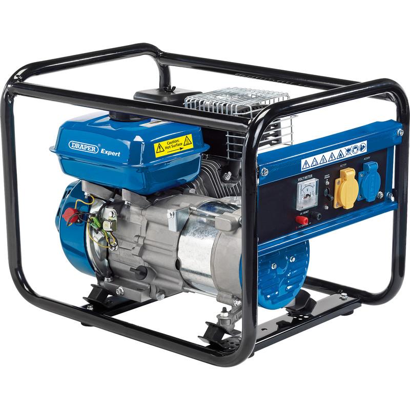 Draper 2.0kW Open Frame Petrol Generator