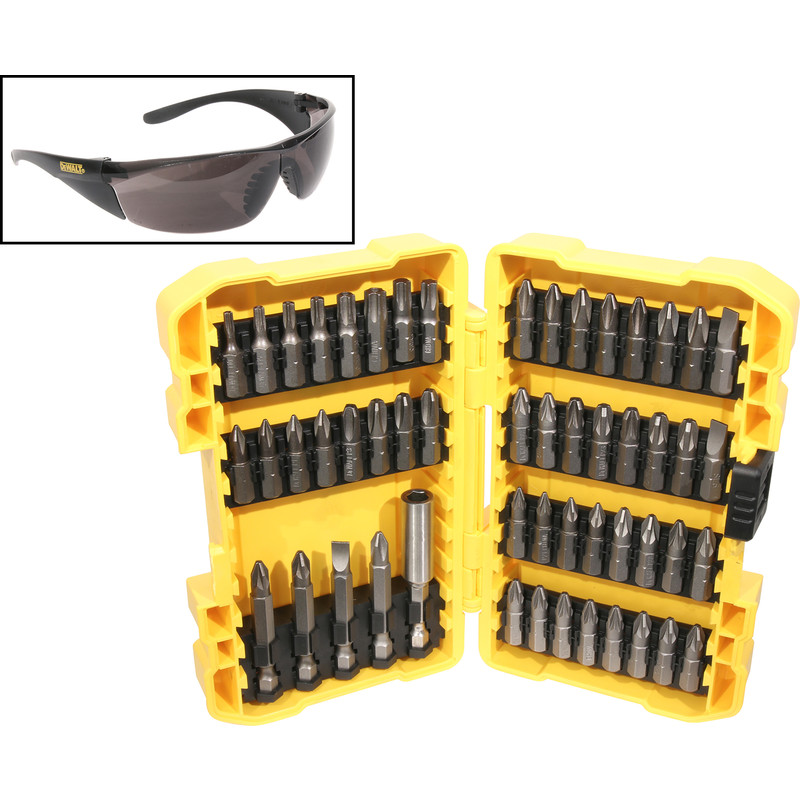 DeWalt Screwdriver Bits & Safety Glasses Set