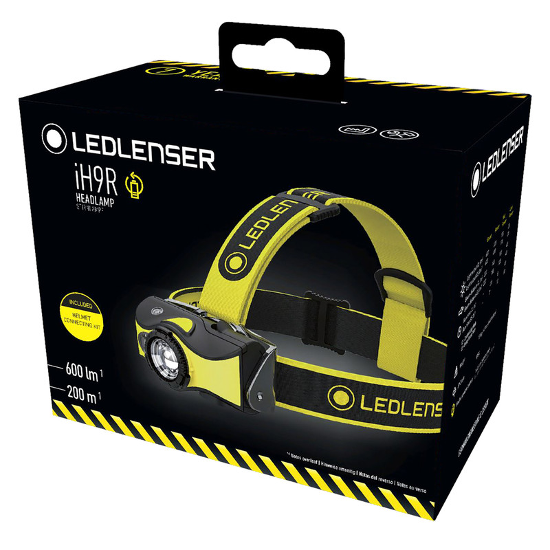 Ledlenser iH9R  Rechargeable Head Torch with Helmet Mount