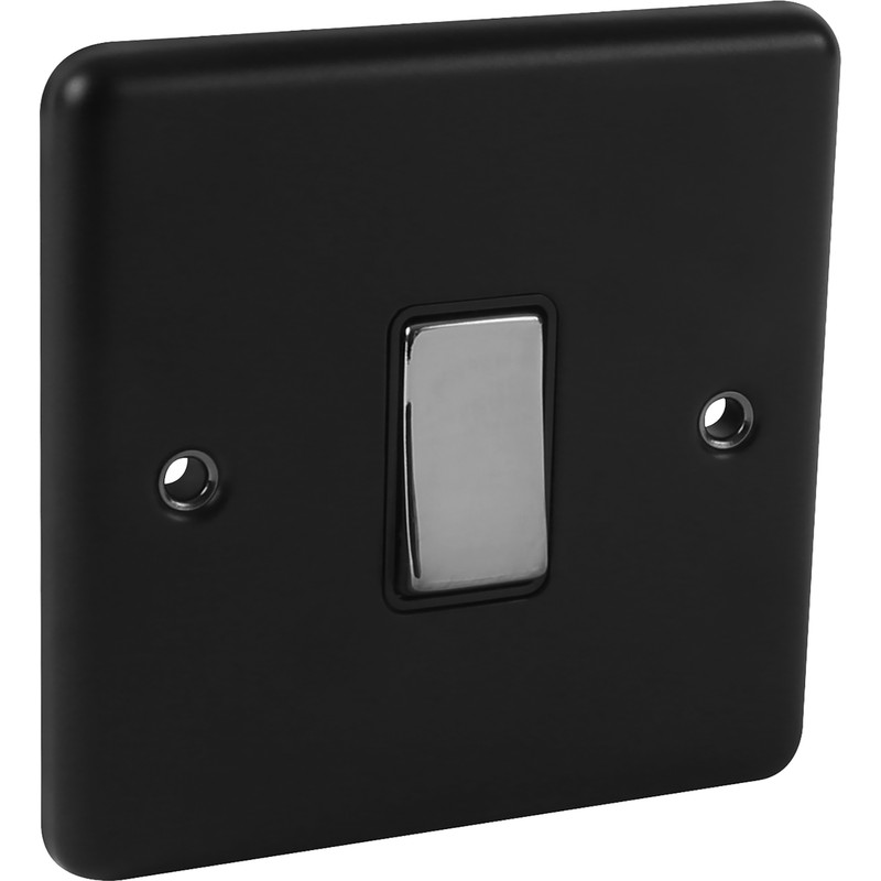 Wessex Matt Black Chrome Switch