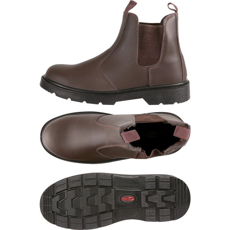 f11fce48140 Dealer Safety Boots Brown Size 9