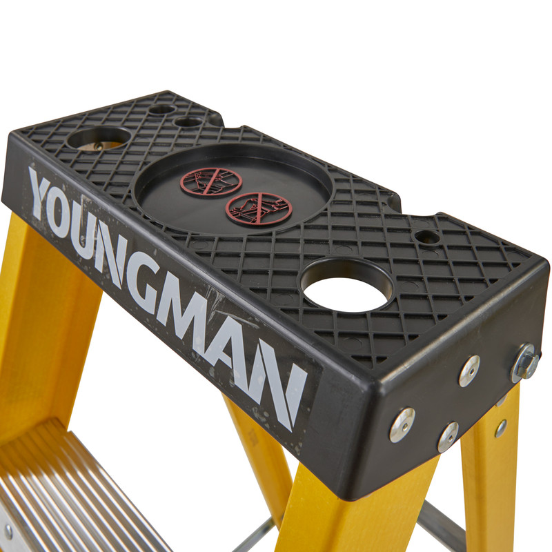 Youngman Fibreglass Swingback Step Ladder