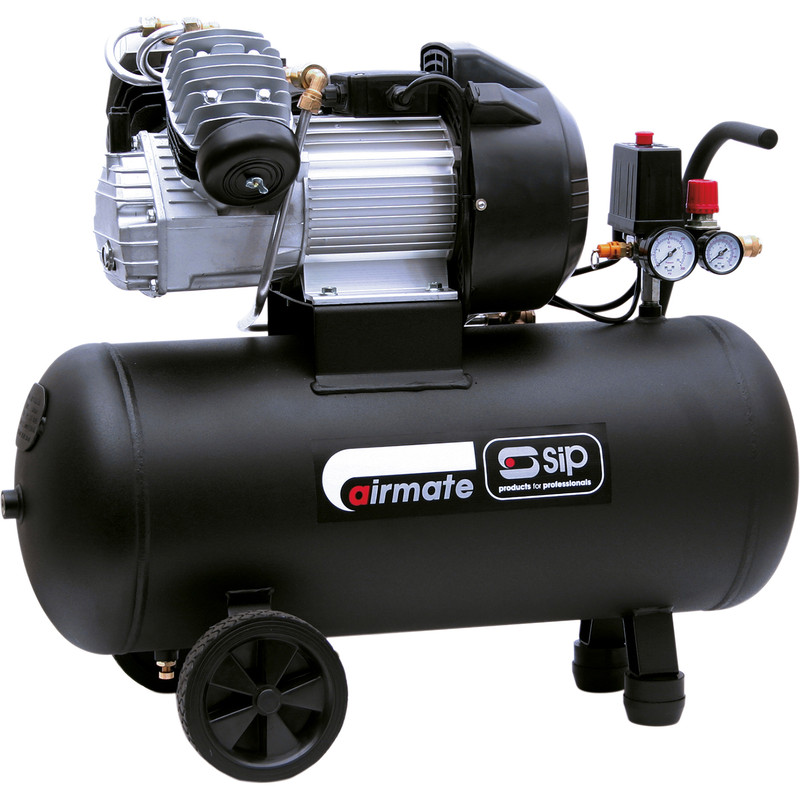 SIP 06242 TN 3/50-D Oil Lubricated 50L 3HP Compressor