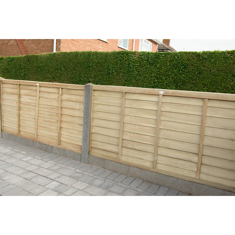 Forest Garden Pressure Treated Superlap Fence Panel - 4 Pack