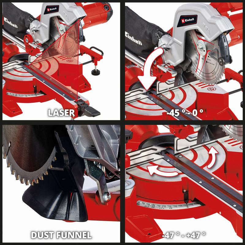 Einhell 216mm Single Bevel Sliding Mitre Saw