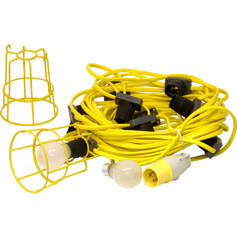 Festoon Lighting Set 110V 22m