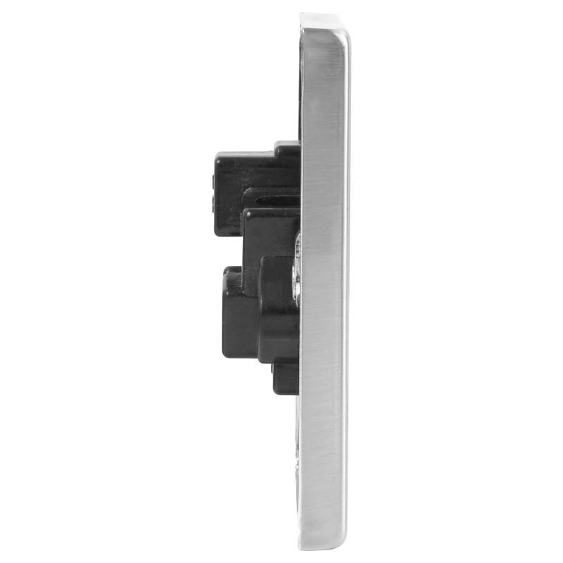 Click Deco Satin Chrome 5A Socket