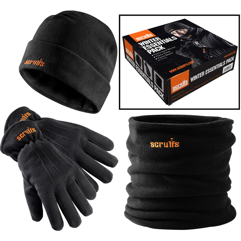 NECK WARMER /& GLOVES TRIPLE PACK HAT SCRUFFS NEW WINTER ESSENTAILS PACK GIFT SET BOXED
