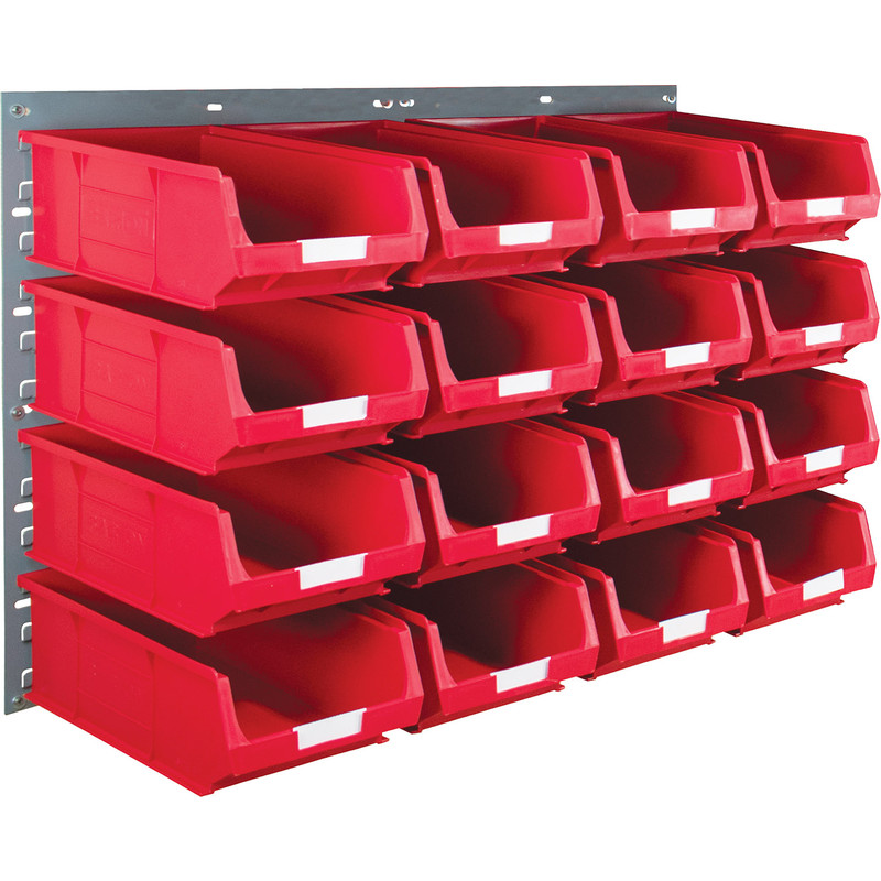 Barton Steel Louvre Panel with Red Bins