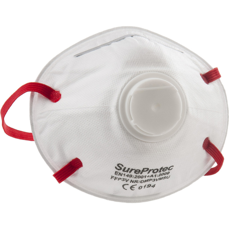 FFP3 Moulded Valved Face Mask