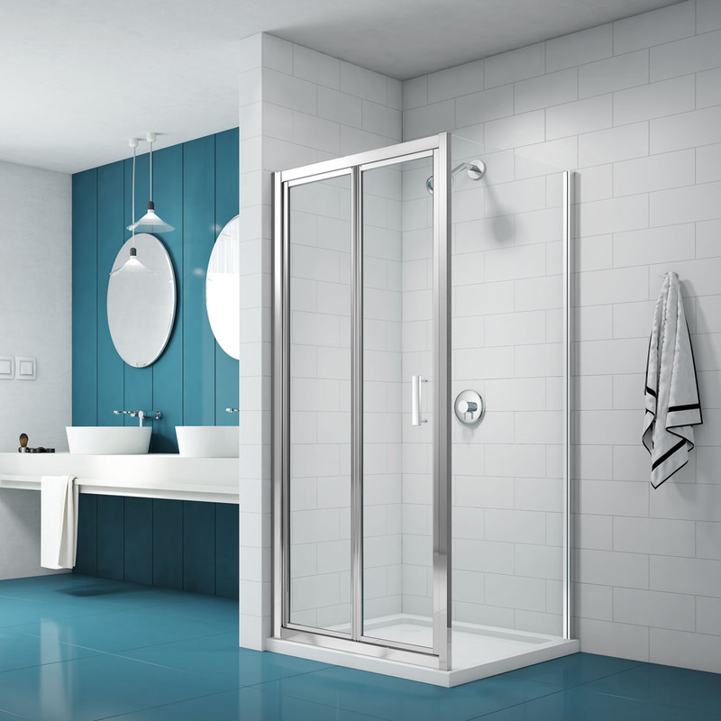 Merlyn NIX Bi-Fold Shower Enclosure Door and Side Panel
