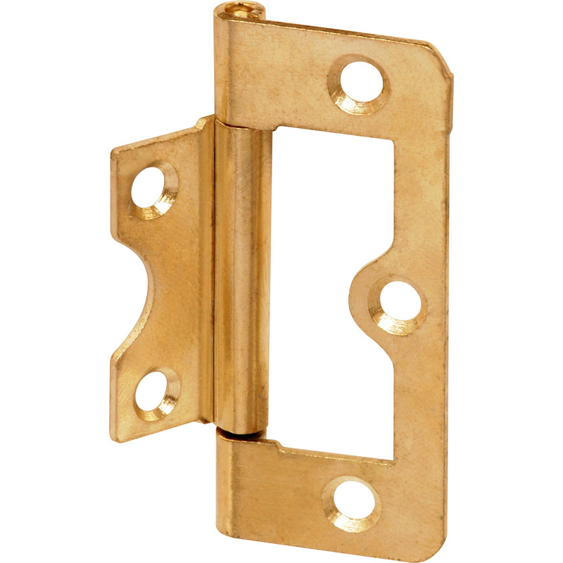 Brass Plated Flush Hinge