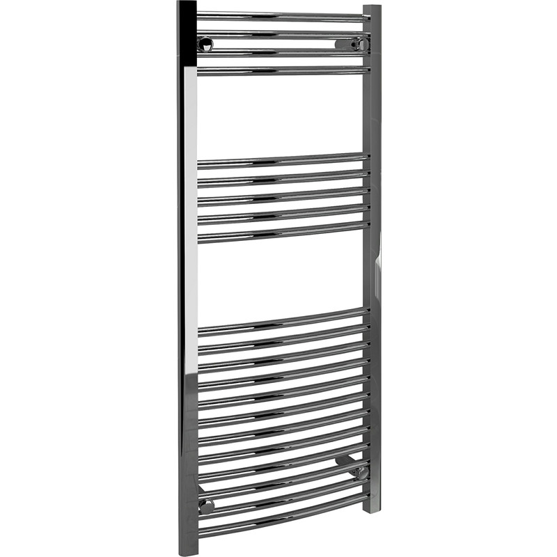 Kudox Chrome Curved Ladder Towel Radiator