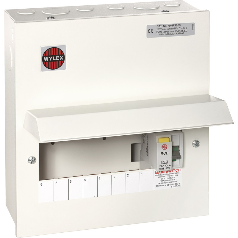Wylex Metal 17th Edition Amendment 3 100A DP Consumer Unit