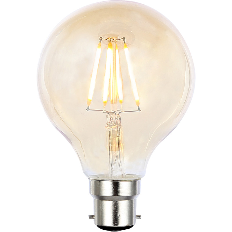 Vintage LED Filament G80 Globe Bulb Lamp