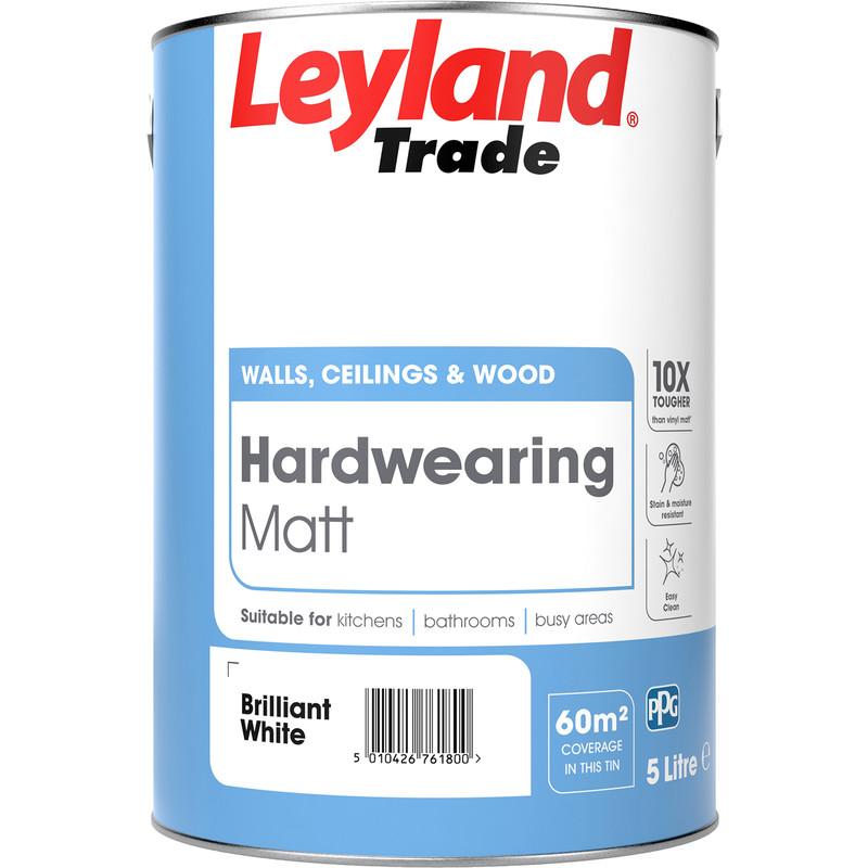 Leyland Trade Hardwearing Matt Paint 5L