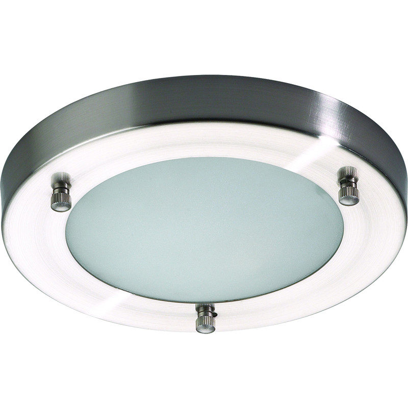 Mistral ip44 g9 led satin nickel glass bathroom light 1 x 25w 200mm mozeypictures Choice Image