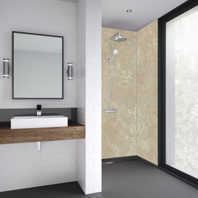 Mermaid Sandstone Laminate Shower Wall Panel