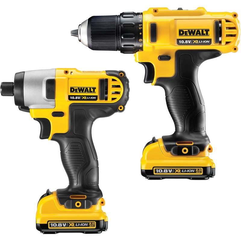 Dewalt Dck211d2t Gb 10 8v Xr Cordless Drill Driver Impact Twin Pack