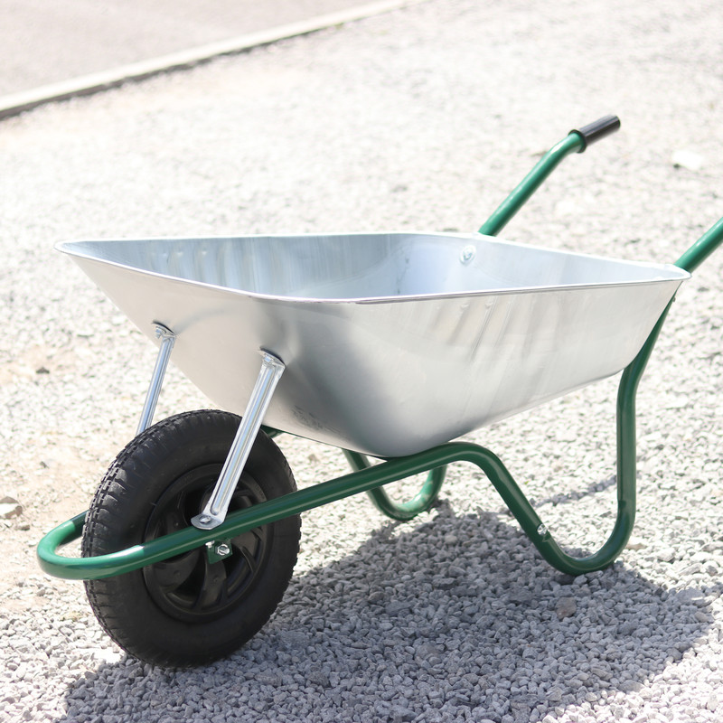 Easiload Galvanised Wheelbarrow 85L