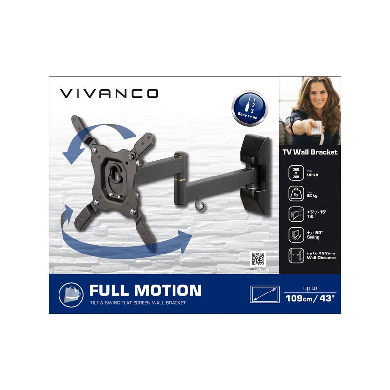 Vivanco Dual Arm Tilt & Swing TV Wall Mount Bracket