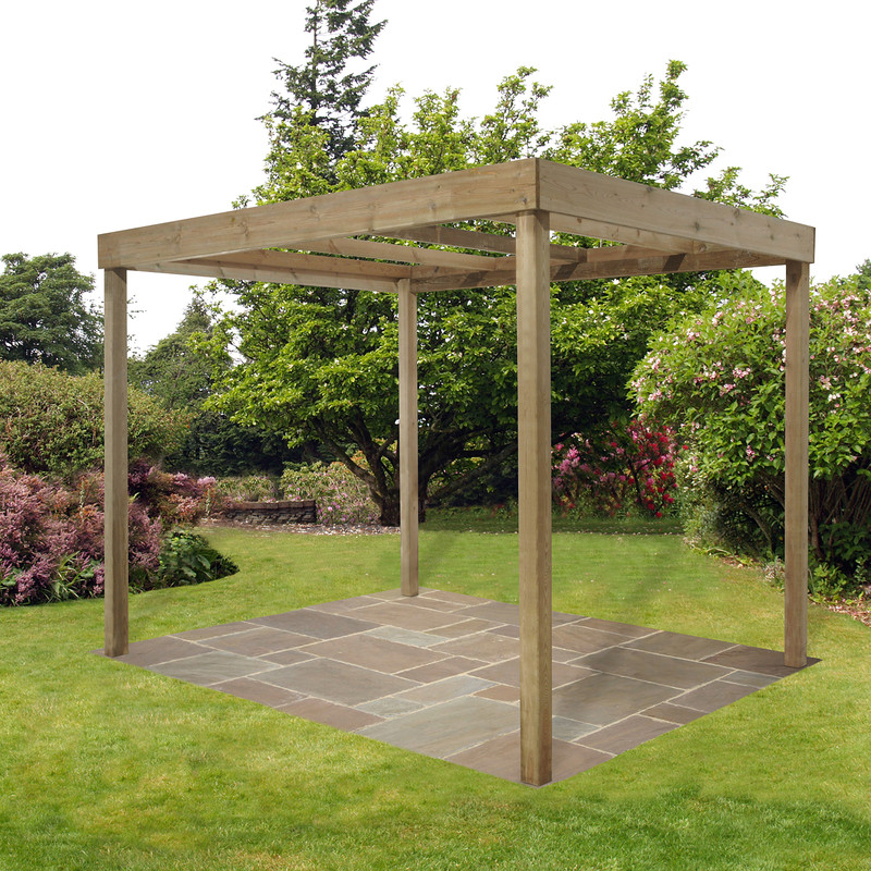 Forest Garden Dining Pergola Without Panels
