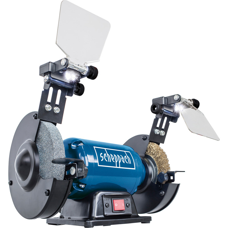 Cool Scheppach Sm150Lb 400W 150Mm Bench Grinder With Wire Wheel 240V Bralicious Painted Fabric Chair Ideas Braliciousco