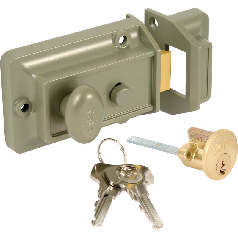 Yale 77 Traditional Nightlatch Brass Standard