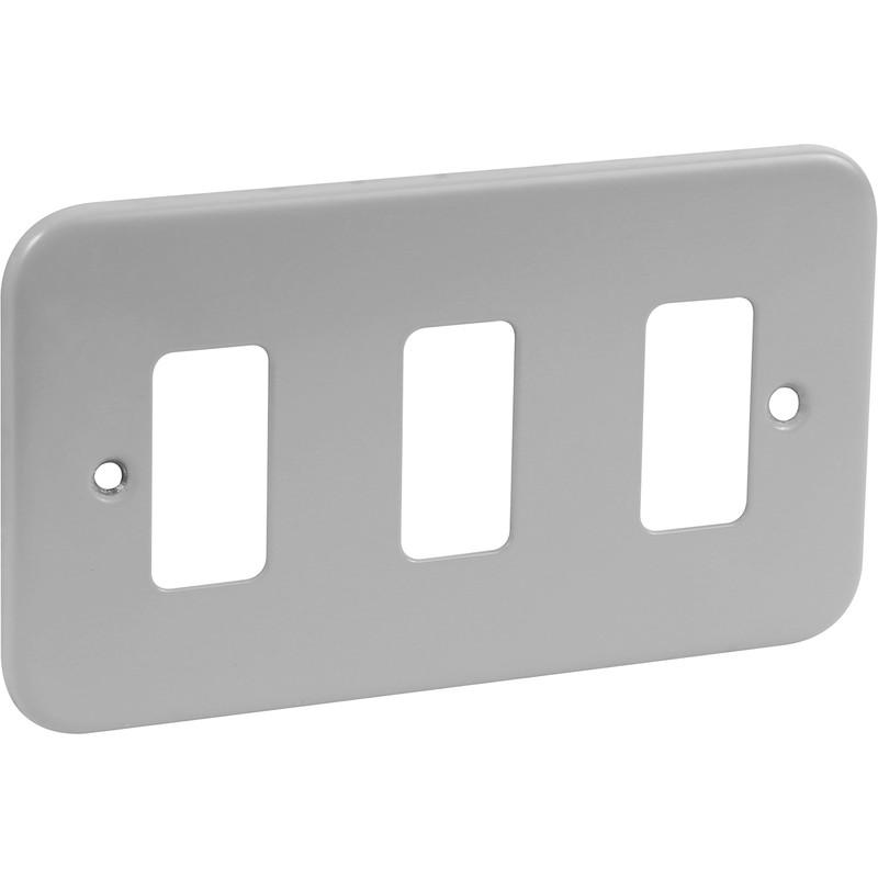Crabtree Rockergrid Metal Front Plate