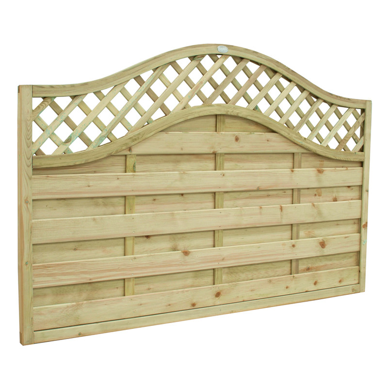 Forest Garden Europa Prague Fence Panel - 3 Pack