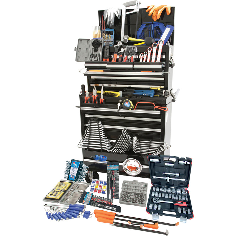 Hilka Tool Kit in Pro Chest & Cabinet 489 Piece